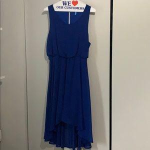 Mendocino Blue High low Dress